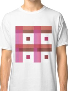 Boxes in Pink & Peach Classic T-Shirt