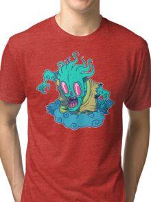 Kumo the Cloud Yokai Tri-blend T-Shirt