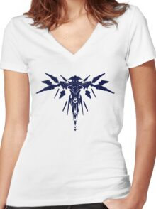 Halo 5: Guardians - Guardian Sentinel Silhouette Design  Women's Fitted V-Neck T-Shirt
