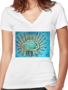 Kachina Was a Dancer original painting Women's Fitted V-Neck T-Shirt