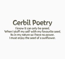 Gerbil Poetry - Sunflower Seeds Kids Clothes