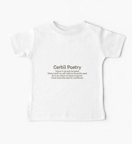 Gerbil Poetry - Sunflower Seeds Baby Tee