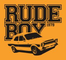 Rude Boy 1979 Ford Escort Men's Classic Car T-shirt by ImageMonkey