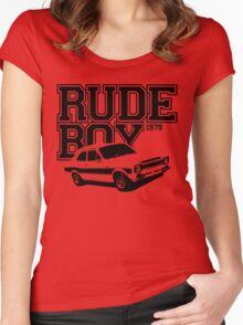 Rude Boy 1979 Ford Escort Men's Classic Car T-shirt Women's Fitted Scoop T-Shirt
