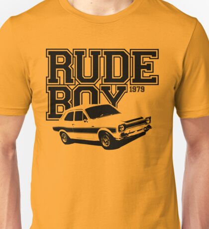 Rude Boy 1979 Ford Escort Men's Classic Car T-shirt Unisex T-Shirt