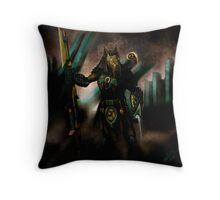 Hadix - Wolfling Hunter Throw Pillow