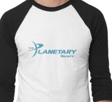 Planetary Society Logo Blue Men's Baseball ¾ T-Shirt