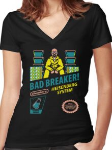 BAD BREAKER! Women's Fitted V-Neck T-Shirt