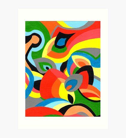 Petal color Art Print