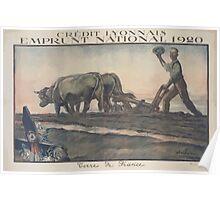 Crédit Lyonnais Emprunt National 1920 Terre de France 1 Poster
