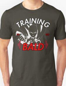 Keep Training To Go Bald!! Onepunch - Man (White) T-Shirt