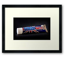 One Likes to do it Twice a Day. Framed Print