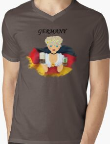 GERMANY Mens V-Neck T-Shirt