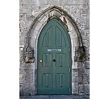 Door to the Medieval Room, Kilkenny Castle, Ireland Photographic Print