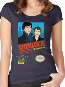 Sherlock NES Game Women's Fitted Scoop T-Shirt