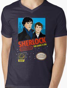 Sherlock NES Game Mens V-Neck T-Shirt