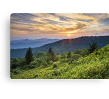 Cowee Mountains Sunset - Blue Ridge Parkway NC Canvas Print