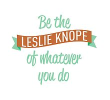 Be the Leslie Knope of whatever you do by jjdough
