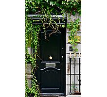 "Dublin Door with a ""center"" door knob, Dublin, Ireland Photographic Print"