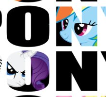 My Little Pony Mane Six 'PONY' Black Lettering Sticker