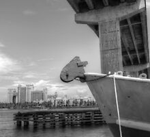 View of Atlantis from under the bridge at Potter's Cay - Nassau, The Bahamas by Jeremy Lavender Photography
