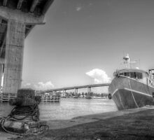 Under the bridge at Potter's Cay in Nassau, The Bahamas by Jeremy Lavender Photography