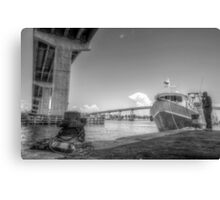 Under the bridge at Potter's Cay in Nassau, The Bahamas Canvas Print
