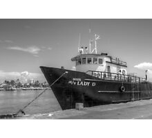 """""""Lady D"""" docked at Potter's Cay in Nassau, The Bahamas Photographic Print"""
