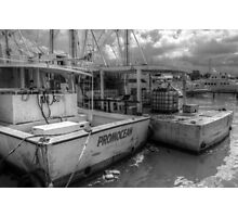 Fishing Boats at Potter's Cay in Nassau, The Bahamas Photographic Print