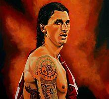 Zlatan Ibrahimovic painting by PaulMeijering