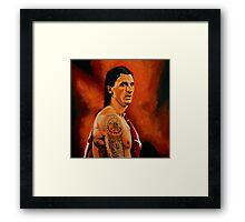 Zlatan Ibrahimovic painting Framed Print
