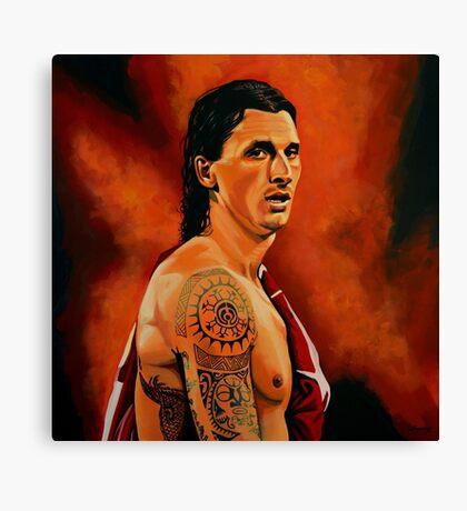 Zlatan Ibrahimovic painting Canvas Print
