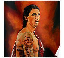 Zlatan Ibrahimovic painting Poster