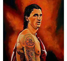 Zlatan Ibrahimovic painting Photographic Print