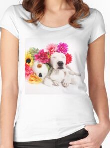 Beebs & Babes Flower Crown Women's Fitted Scoop T-Shirt