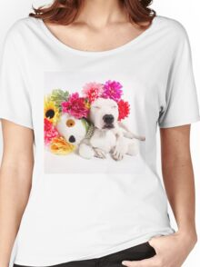 Beebs & Babes Flower Crown Women's Relaxed Fit T-Shirt