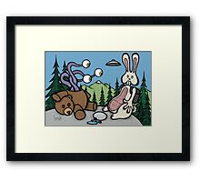 Teddy Bear and Bunny - The Confession Framed Print