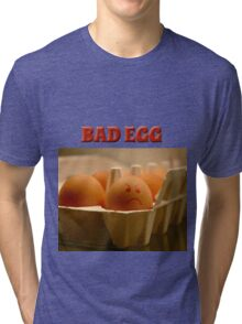 Rock Your Bad Egg Zip Down Hoodie Tri-blend T-Shirt
