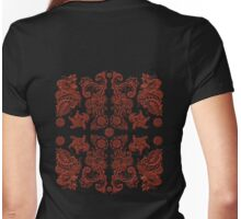 Chinese Lacquered Garden 中国漆木花园 Womens Fitted T-Shirt