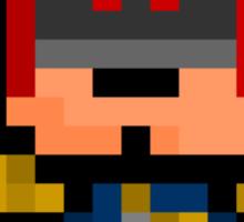Pixel Judge Dredd Sticker