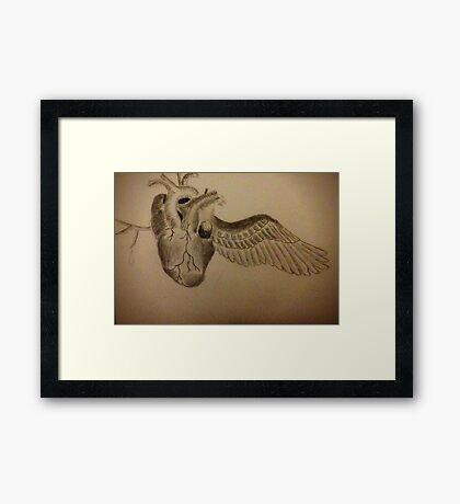 Broken Heart Framed Print