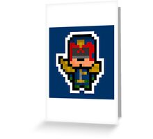 Pixel Judge Dredd Greeting Card