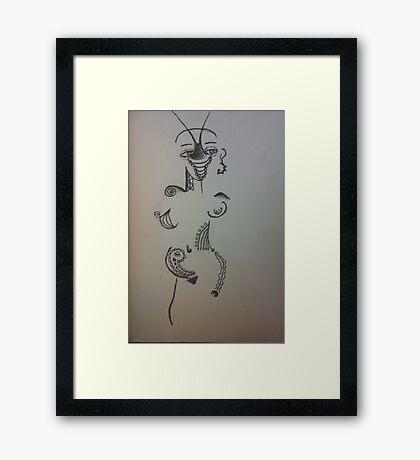 Alien Girl Framed Print