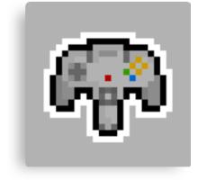 Pixel Nintendo 64 Controller Canvas Print