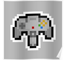 Pixel Nintendo 64 Controller Poster