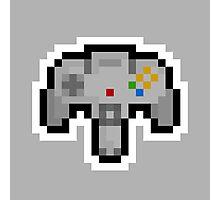 Pixel Nintendo 64 Controller Photographic Print