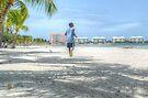 Bahamian Boy at Montagu Beach by Jeremy Lavender Photography