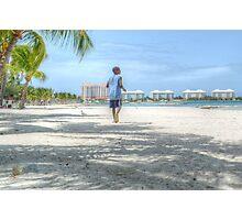 Bahamian Boy at Montagu Beach Photographic Print