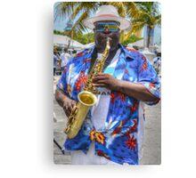 Street Musician in Nassau, The Bahamas Canvas Print