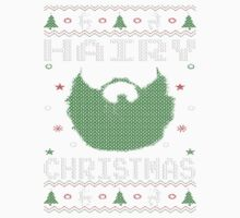 Hairy Christmas Beard Ugly Sweatshirt One Piece - Short Sleeve